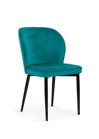Krzesło AINE morski/ noga czarna/ BL85