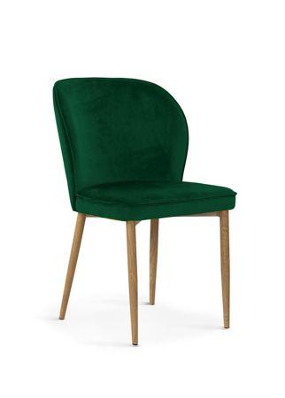 Krzesło AINE zielony/ noga dąb/ BL78