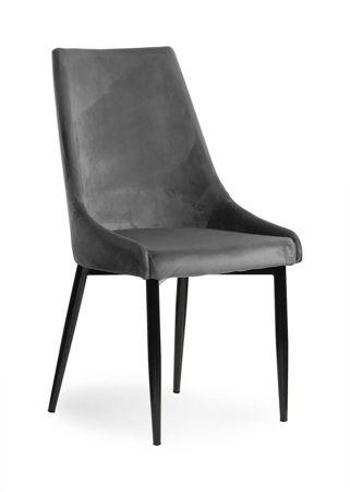 Krzesło LUIS VELVET szary/ noga czarna