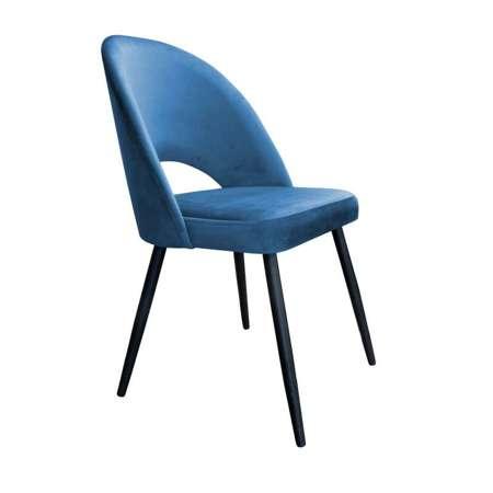 Niebieskie tapicerowane krzesło LUNA materiał MG-33