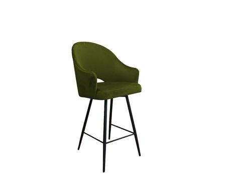 Oliwkowy tapicerowany hoker fotel DIUNA materiał BL-75