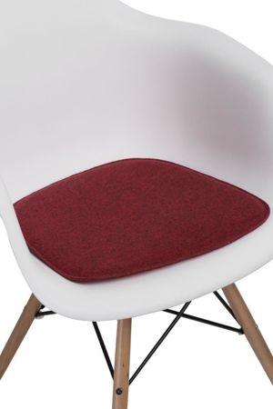 Poduszka na krzesło KR012F bordowa
