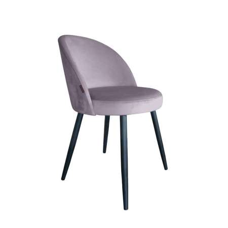 Różowe tapicerowane krzesło CENTAUR materiał MG-55