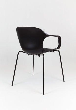 SK Design KR018 Czarne Krzesło Metalowy Stelaż