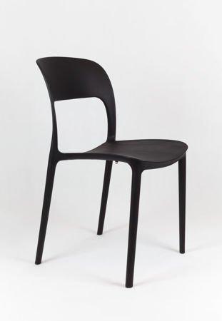 SK Design KR022 Czarne Krzesło Polipropylenowe