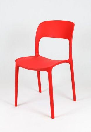 SK Design KR022 Czerwone Krzesło Polipropylenowe