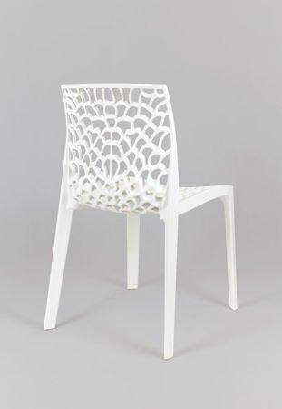 SK Design KR026 Białe Ażurowe Krzesło z Polipropylenu
