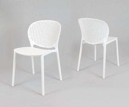 SK Design KR033 Białe Krzesło Polipropylenowe