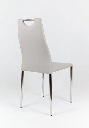 SK Design KS005 Jasnoszare Krzesło  OUTLET (II gatunek)