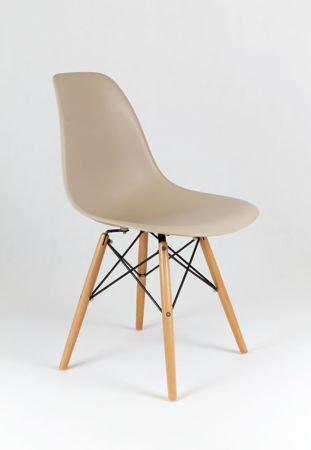 SK Design KR012 Beżowe Krzesło - Nogi Buk