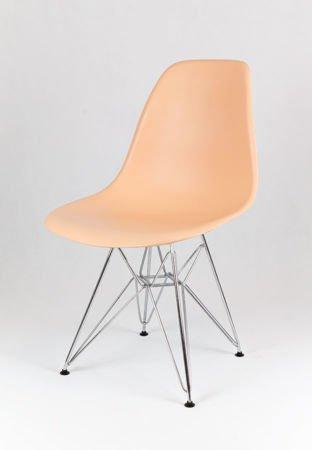 SK Design KR012 Brzoskwiniowe Krzesło Chrom
