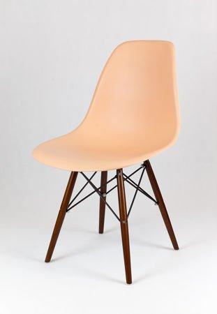 SK Design KR012 Brzoskwiniowe Krzesło - Nogi Wenge