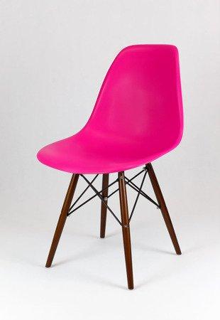 SK Design KR012 Ciemnoróżowe Krzesło , Nogi wenge