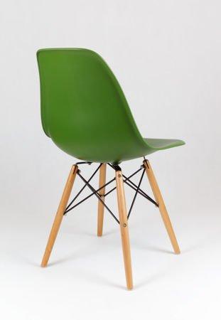 SK Design KR012 Ciemnozielone Krzesło, Nogi buk