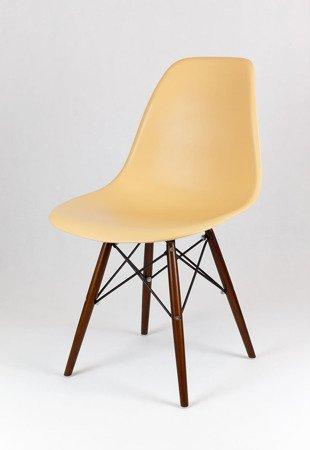 SK Design KR012 Piaskowe (beżowe) Krzesło, Nogi wenge