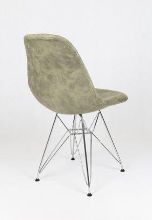 SK Design KR012 Tapicerowane Krzesło Eko 2, Chromowane nogi