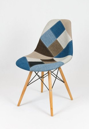 SK Design KR012 Tapicerowane Krzesło Patchwork 6 Buk