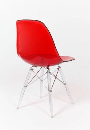 SK Design KR012 Transparentne Czerwone Krzesło, Nogi lodowe