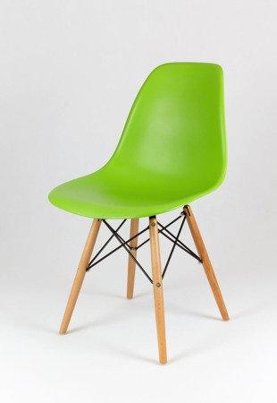 SK Design KR012 Zielone Krzesło, Nogi buk