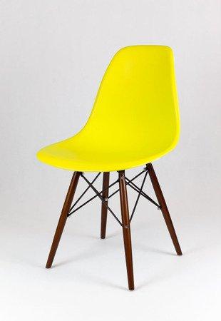 SK Design KR012 Żółte Krzesło, Nogi wenge