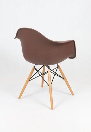 SK Design KR012F Brązowy Fotel Buk