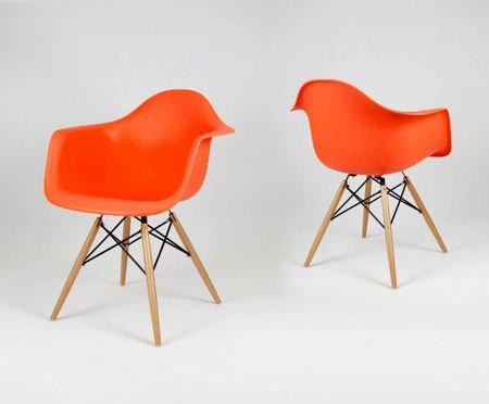 SK Design KR012F Pomarańczowy Fotel Pomarańczowy buk