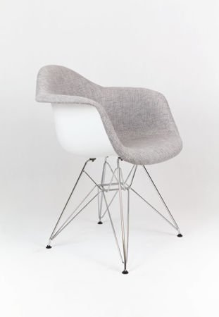 SK Design KR012F TBSZ Szary Fotel Chrom
