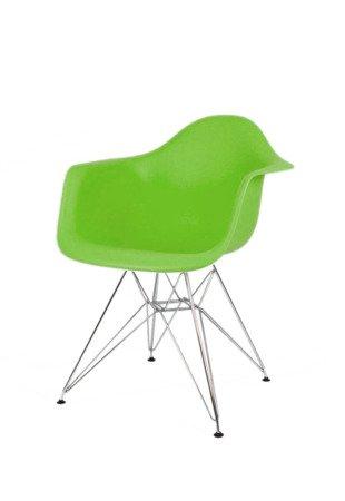 SK Design KR012F Zielony Fotel Chrom