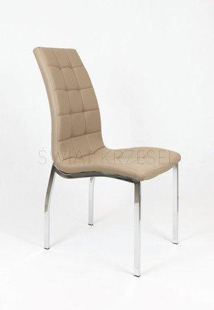 SK Design KS002 Ciemnobeżowe Pikowane Krzesło