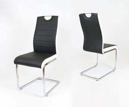 SK Design KS037 Czarne Krzesło, Biały bok
