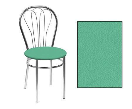 SKN Krzesło Venus Seledynowe (zielone), Nogi Chrom