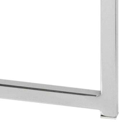Stolik kwadratowy Cross szkło/chromowany