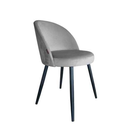 Szare tapicerowane krzesło CENTAUR materiał MG-17