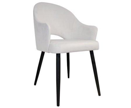 Tapicerowane krzesło fotel DIUNA w kolorze kości słoniowej materiał MG-50