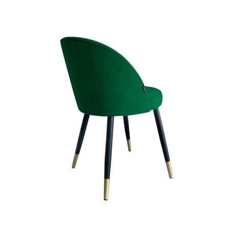 Zielone tapicerowane krzesło CENTAUR materiał MG-25 ze złotą nóżką